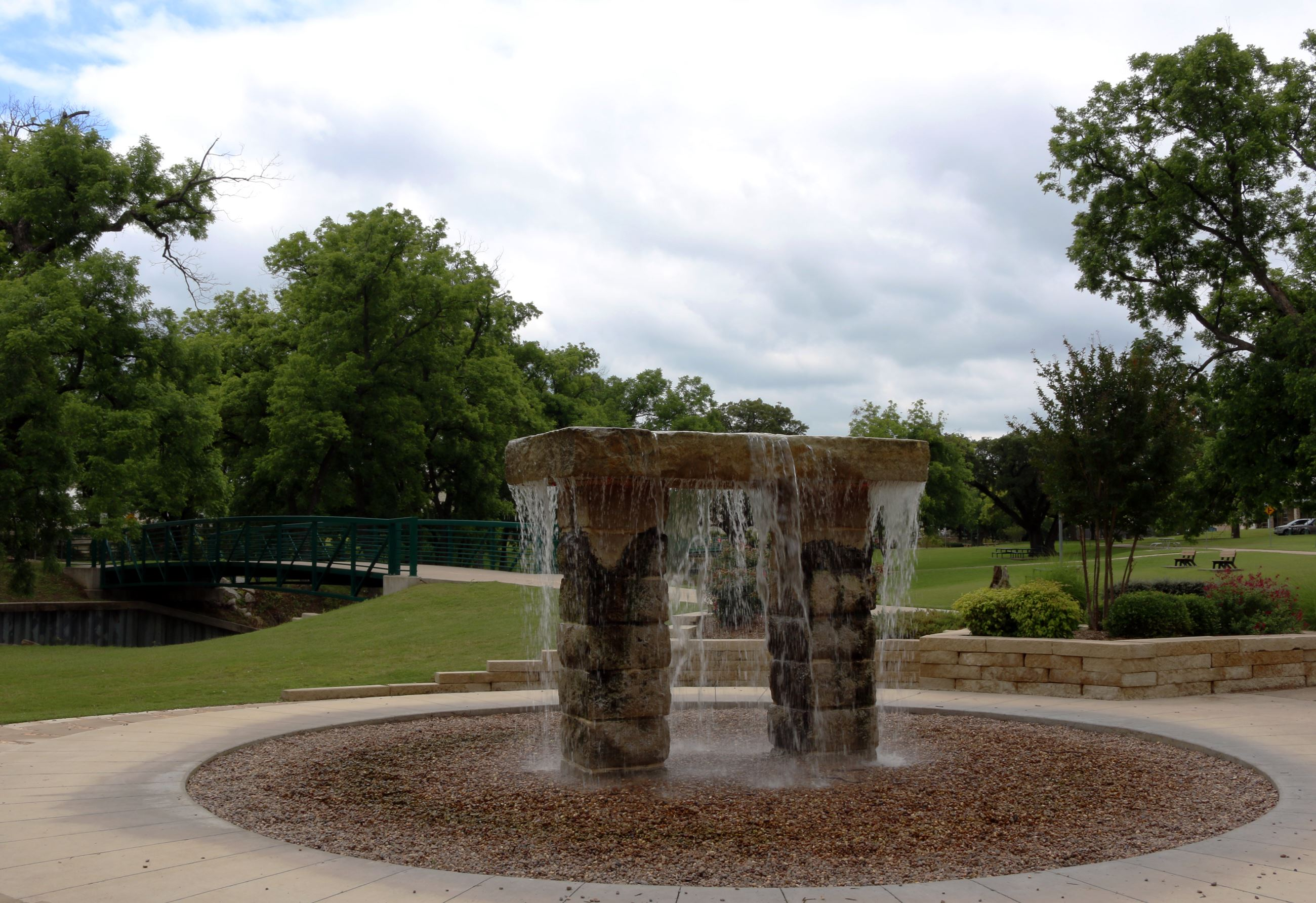 Shanley Park water fountain statue
