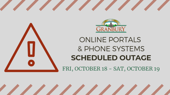 Online Portals and Phone Systems Scheduled Outage 10-18 and 10-19